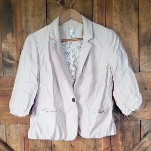 LC Lauren Conrad Pink Shawl Collar Blazer